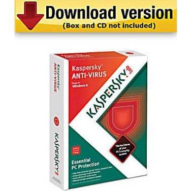 New 2013 Kaspersky anti-virus -1 user license, free shipping