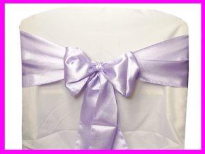 Lavender Satin Chair Sash Bow