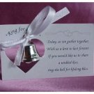 Silver Wedding Mini Bell Decoration Favors (set of 50)