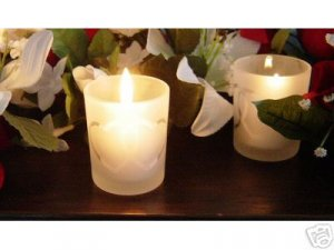 Double Heart Candle Holder with 4 hour White Candle