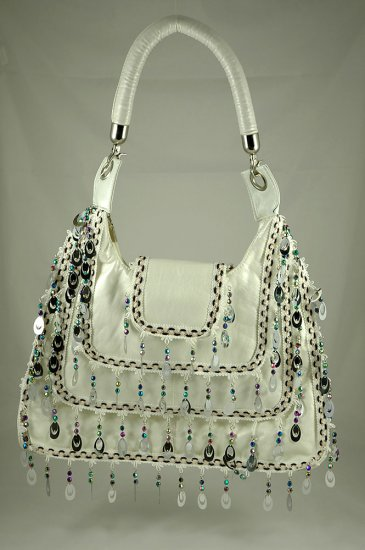 ME Design white pearl colored bag