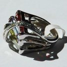 Cubic Zirconia Multi-colored Fashion Ring, size 8