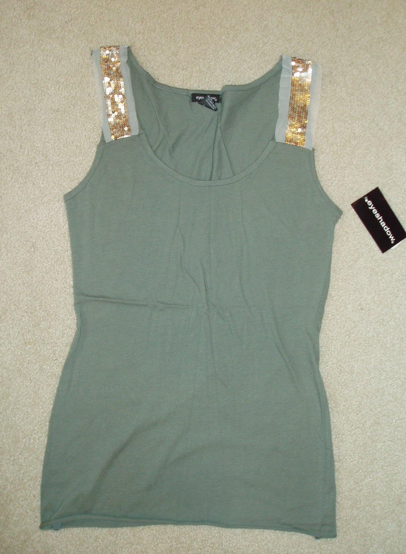 Junior, women's green tank top, size Large, L