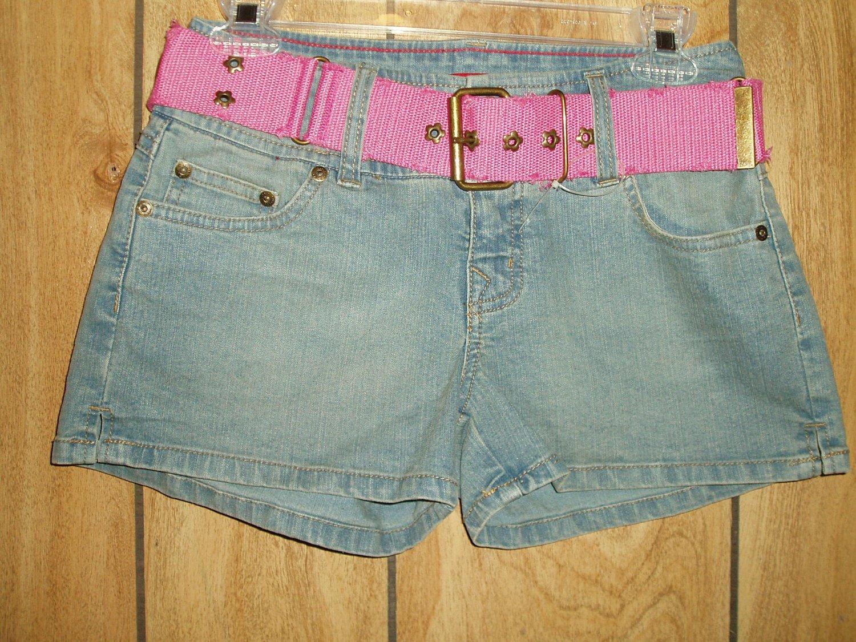 Juniors Glo blue denim shorts, size 3