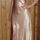 Cicci USA Womens/Juniors gold shimmering dress, Size Medium, M