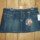 Paris Blues blue denim low rise mini skirt, size 13