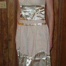 Beige 100% Cotton Dress, Size Medium, M