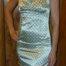 Marine Blue polka dot mini dress with lace, Size Juniors Large, L