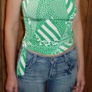 Veneccia Juniors strapless top in green & white, size Juniors Small, S