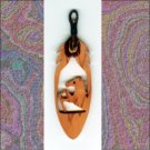 Small Horse  Aromatic Cedar Feather Wall Hanging