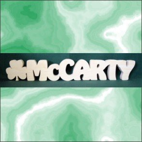 Personalized Desk Plaque - Any Word with a Shamrock