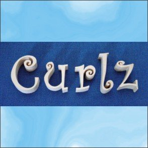Curlz 3 Inch Wood Letters Numbers Pine Signs