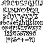 Oak Curlz  9 Inch Wood Letters Numbers Names Wooden