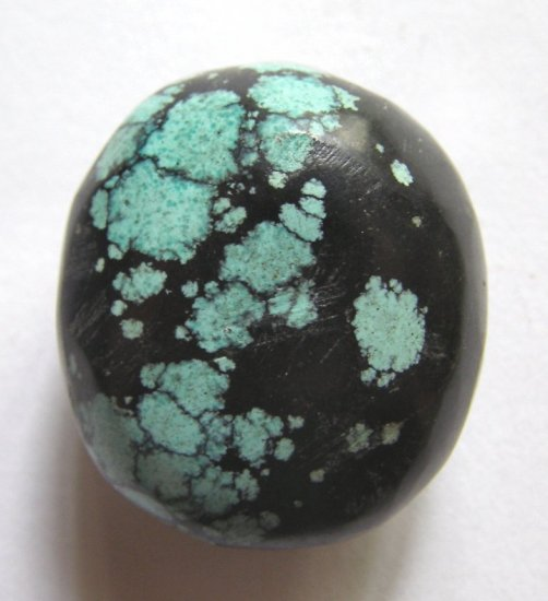 Turquoise 34x30 Smooth Nugget Pendant Bead