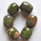 6 Unakite 19x12 Drum Beads