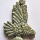 Russian Serpentine 65x46 Carved Eagle Pendant Bead