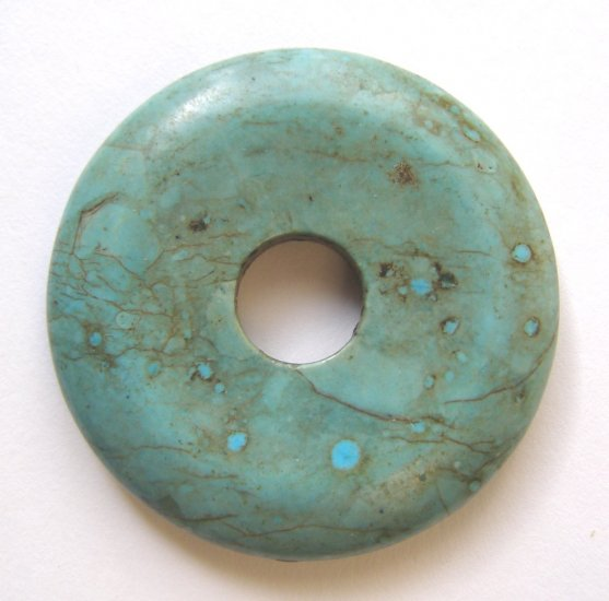Turquoise Magnesite 50mm Donut Pendant Bead