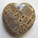 Turtle Jasper 32x33 Faceted Heart Pendant Bead