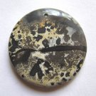 Nature's Paintbrush Jasper 38mm Disc Pendant Bead