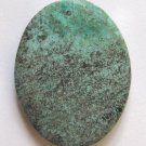 African Turquoise 45x34 Oval Pendant Bead