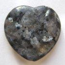 Larvikite 35x36 Heart Pendant Bead
