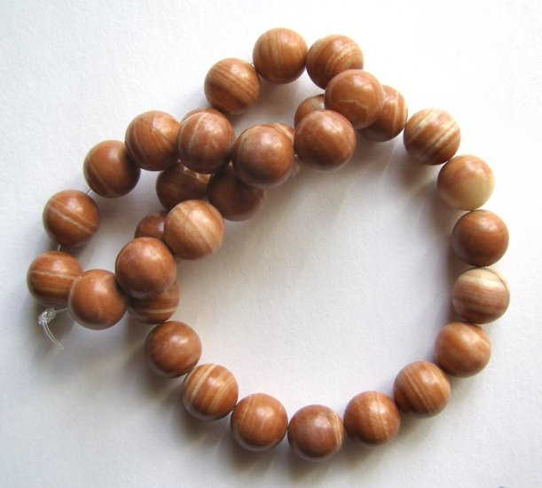 """Sedona Jasper12mm Round Beads 15"""" strand"""
