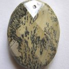 Nature's Paintbrush Jasper 39x30 Faceted Oval Pendant Bead