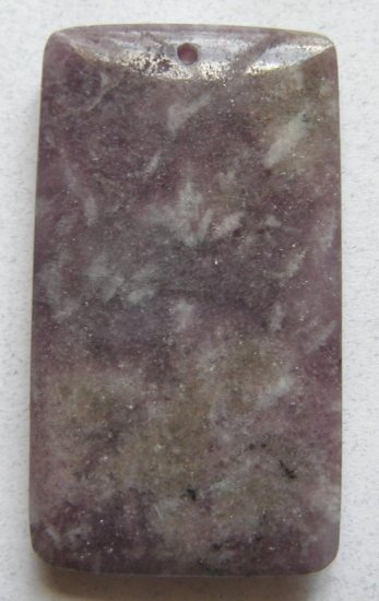 Lepidolite 50x28 Rectangle Pendant Bead