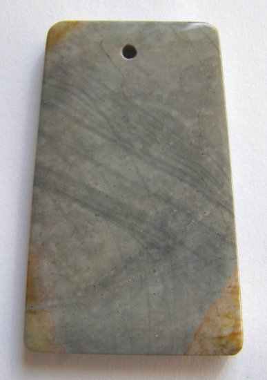 American Picture Jasper 49x32 Ladder Pendant Bead