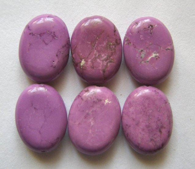 6 Purple Turquoise Magnesite 16x12 Oval Beads