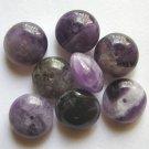 8 Amethyst 16x9mm Saucer Beads