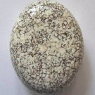 White Turquoise Magnesite 40x31 Oval Pendant Bead