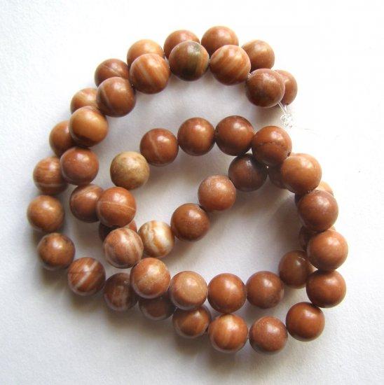"""Sedona Jasper 8mm Round Beads 15"""" strand"""