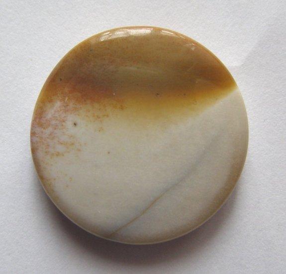 Moukaite 30mm Disc Pendant Bead