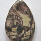 Nature's Paintbrush Jasper 35x25 Teardrop Pendant Bead