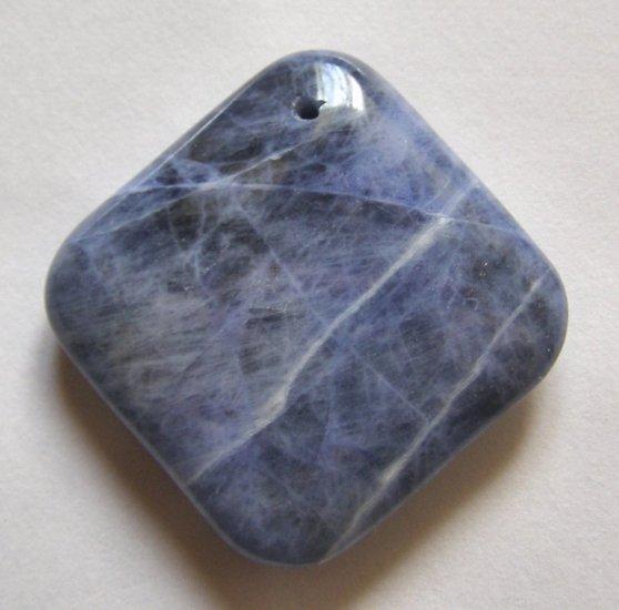 Sodalite 37x37 Diamond Shaped Pendant Bead