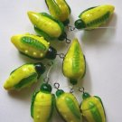 LampworkGlass  Corn Pendant Beads
