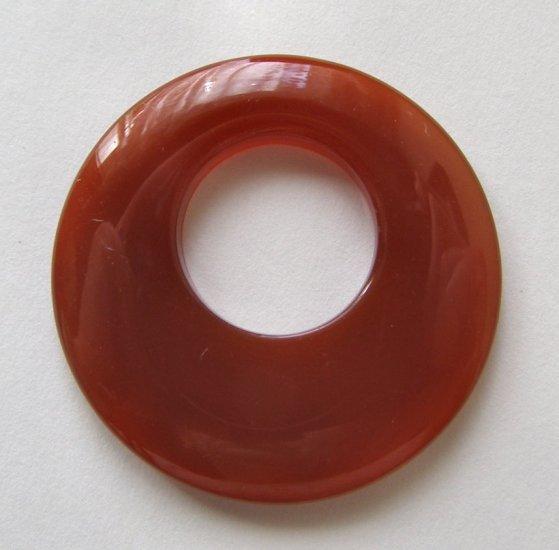 Carnelian Agate 41mm Pendant Bead