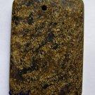 Bronzite 43x30 Rectangle Pendant Bead