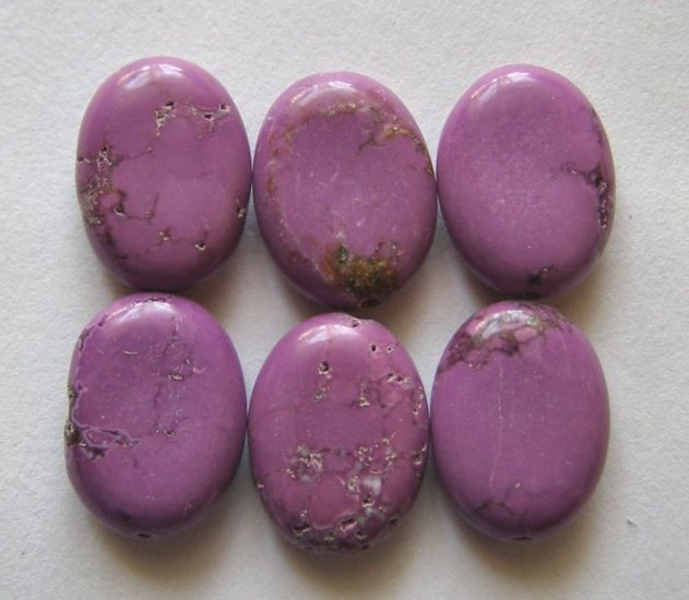 6 Purple Turquoise Magnesite16X12 Oval Beads