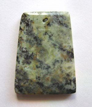 African Turquoise 46x33 Ladder Pendant Bead