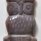 Fancy Jasper 32x24 Carved Owl Pendant Bead