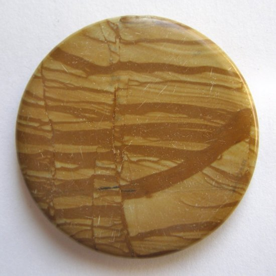 Wood Jasper 45mm Disc Pendant Bead