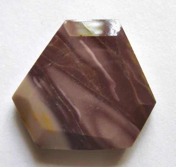 Moukaite Jasper 34x37 Wild Cut Pendant Bead