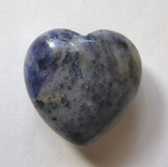 Dumortierite 30X30 Carved Heart Pocket/Wrapping Stone