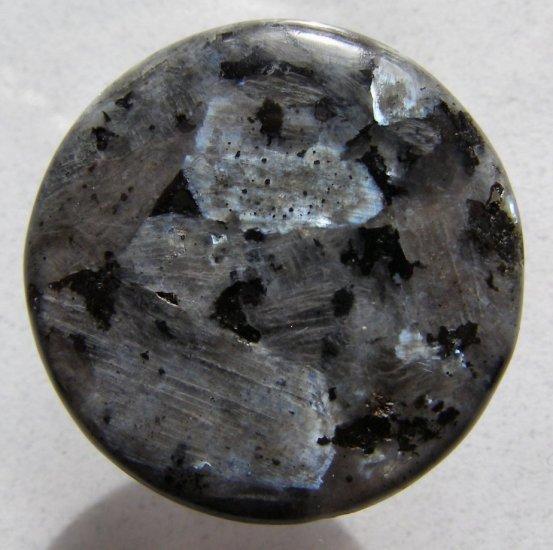 Larvikite 35mm Disc Pendant Bead