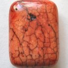 Really Red Magnesite 30x22 Rectangle Pendant Bead