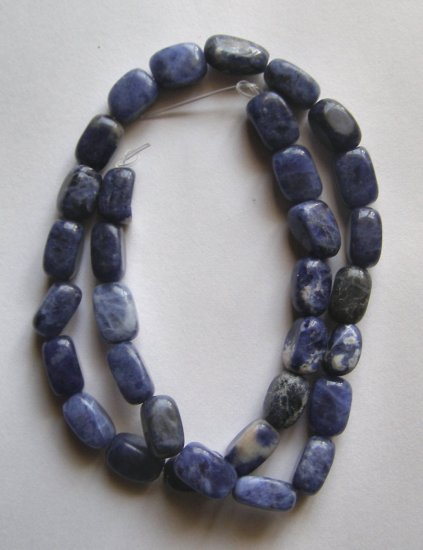 """Sodalite 12x8 Rectangle Nugget Beads 15.5"""" strand"""