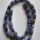 "Sodalite 12x8 Rectangle Nugget Beads 15.5"" strand"