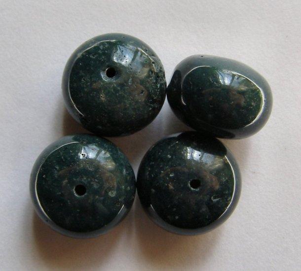 4 Pine Forest Green Ocean Jasper 16x12 Rondelle Beads